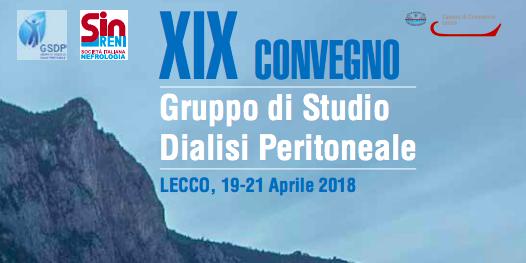 XIX Congresso di Dialisi Peritoneale Lecco, 19-21 Aprile 2018